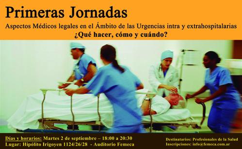Primeras Jornadas de medicina legal en FEMECA