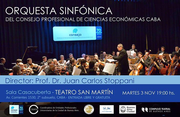 Concierto de la Orquesta Sinfónica del Consejo Profesional de Ciencias Económicas de CABA